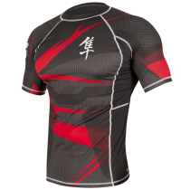 Metaru 47 Silver Rashguard Shortsleeve - Red