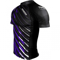 Metaru Charged Shortsleeve Rash Guard Purple