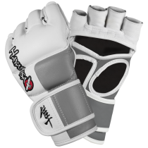 Tokushu 4oz MMA Gloves - White/Slate Grey