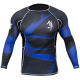 Metaru 47 Silver Rashguard Longsleeve - Blue